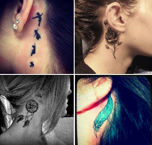 tatuagem atras da orelha