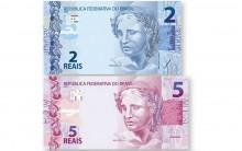 Novas Cédulas de R$ 5 e R$ 2 Reais – ver Fotos e Informações