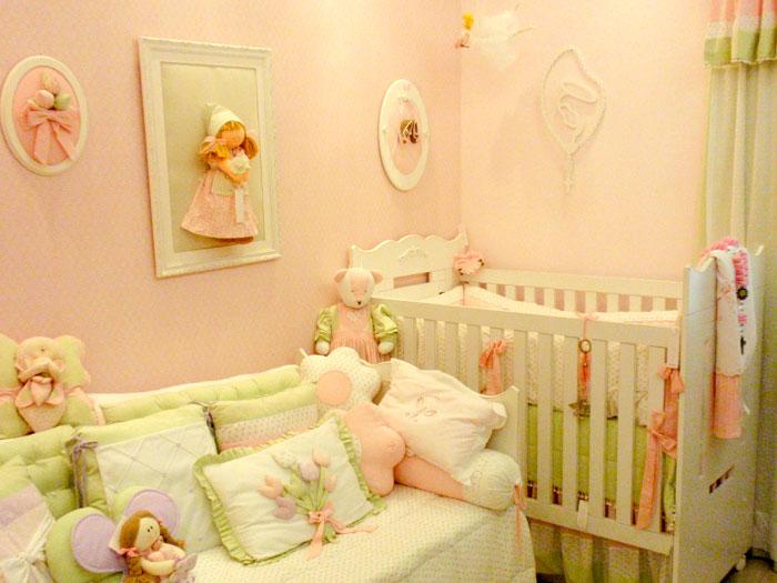 Decoração quarto de Bebês em Rosa e Verde –Fotos, Tendências e Dicas