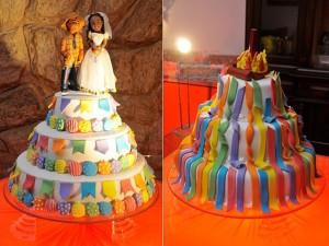 bolo casamento junino
