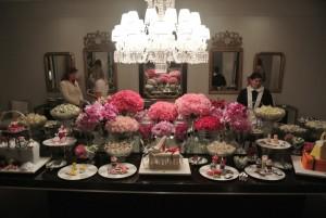 decoraçao chá de cozinha com rosas