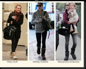 famosas usando botas ugg