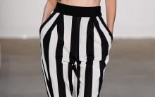 Calças Listradas Preto e Branco Nova Tendência 2013 – Modelos e Onde Comprar