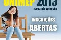 Vestibular Unimep 2º Semestre 2013 – Inscrições, Data da Prova, e Cursos Oferecidos