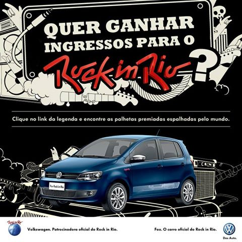 Promoção Volkswagen Eu Vou de Fox ao Rock In Rio 2013 – Como Participar