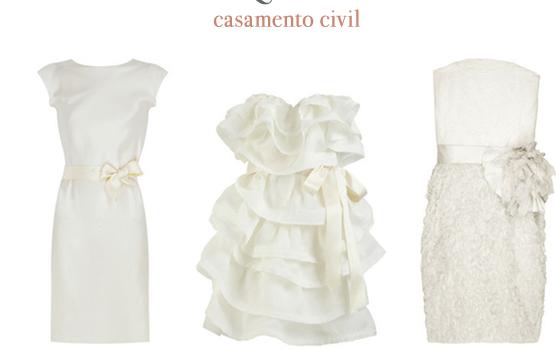 Vestidos de Noiva para Casamento Civil – Modelos 2013