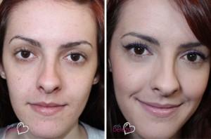 antes e depois make