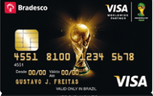 Cartão de Crédito Visa Internacional  Bradesco Copa do Mundo 2014  – Como Solicitar