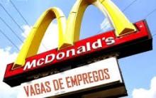 Vagas para Trabalhar no Mcdonalds 2013 – Cadastrar Currículo Online