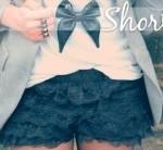 Shorts de Renda Moda Verão 2013 – Ver Fotos e Tendências