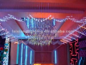 decoração feita com fibra otica