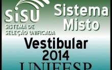 Vestibular Universidade Federal de São Paulo 2014 – Inscrições, Cursos