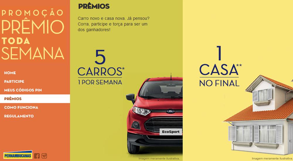 Promoção Pernambucanas Prêmios Toda Semana – Como Participar, Prêmios