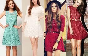 Tendência de Vestidos de Renda Colorido – Modelos, Verão 2014