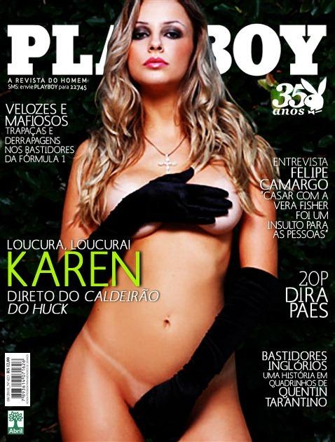 Karen kounrouzan Coleguinha do Caldeirão Capa Playboy de Novembro 2013 – Ver Fotos