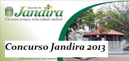 Concurso Prefeitura de Jandira 2013 – Como Se Inscrever, Vagas