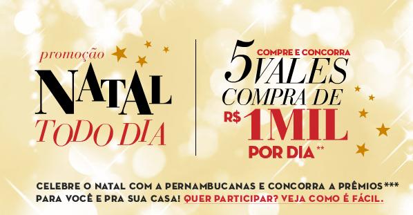 """Promoção Pernambucanas """"Natal Todo Dia""""2013 – Como Participar, Prêmios"""