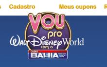 """Promoção Casas Bahia """"Vou Pro Walt Disney World Com a Casas Bahia"""" – Participar"""