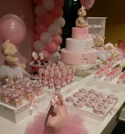Decoração Festa de Aniversário Infantil Tema Ursa Bailarina –  Fotos e Contratar Serviços de Buffet