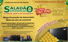 """Promoção """"Seu Carrinho Vale Ouro"""" Supermercado Saladão – Como Participar, Prêmios"""