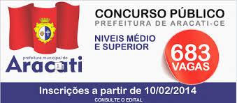 Concurso Prefeitura de Aracati CE 2014 – Inscrição, Vagas, Edital