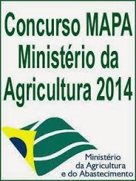Concurso Ministério da Agricultura 2014 – Inscrições e Edital