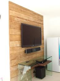 Painel de Deck de Madeira Para Tv