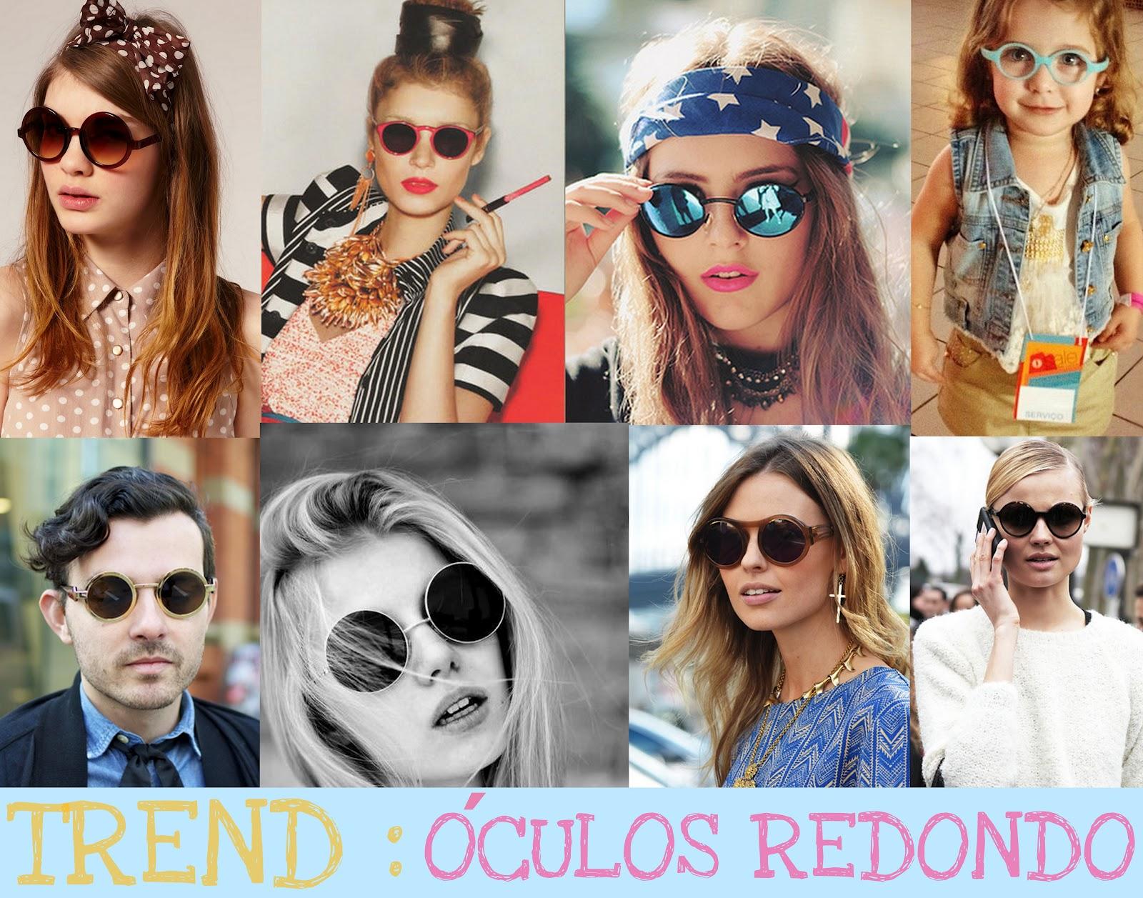 Tendência de Óculos Redondo 2014 – Modelos, Onde Comprar Online