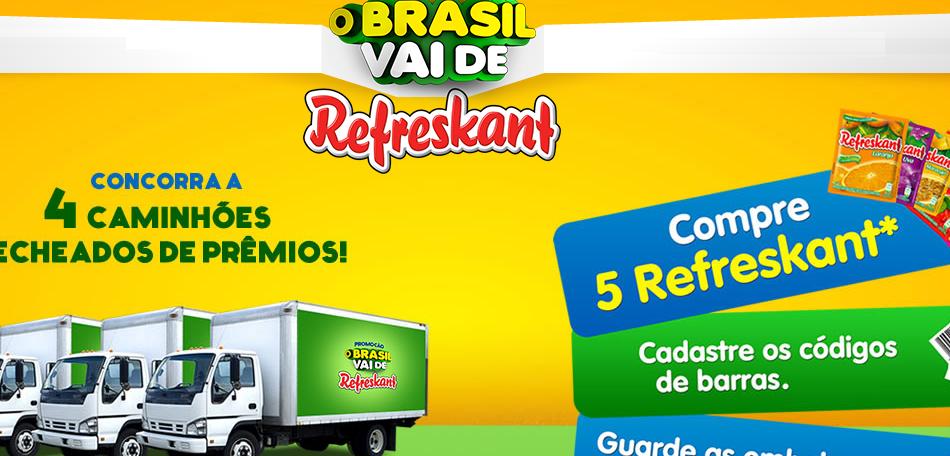 """Promoção """"O Brasil Vai de Refreskant"""" – Participar, Prêmios"""