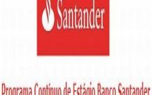 Programa Contínuo de Estágio Santander 2014 – Inscrições, Benefícios e Processo Seletivo