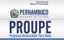Proupe Programa Universidade Para Todos em Pernambuco 2014 – Inscrições