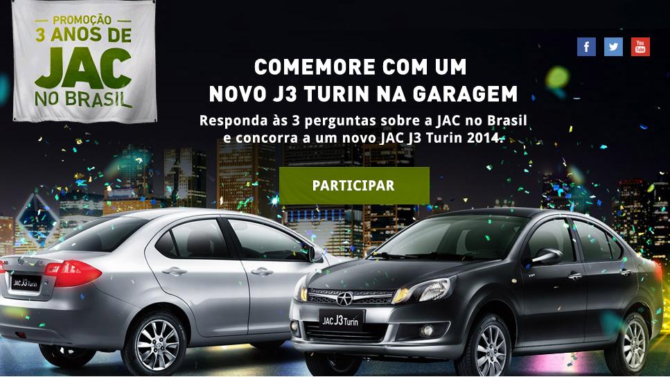 Promoção Três Anos de Jac Motors No Brasil – Participar, Prêmios