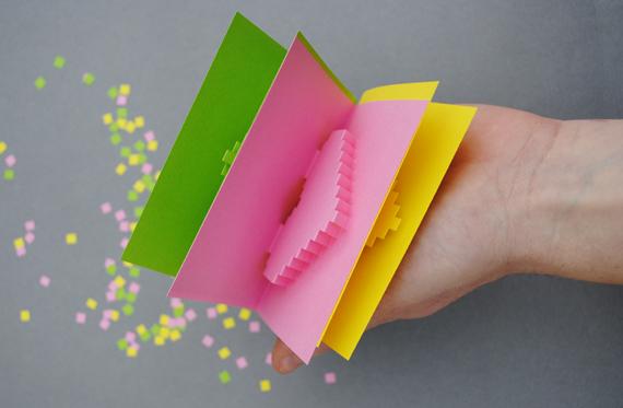 Cartão Pixelado Criativo Para o Dia dos Namorados 2014 – Ver Modelos Como Fazer