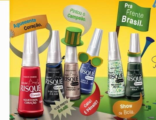 Coleção de Esmaltes Brasil Por Risqué 2014 – Ver Cores e Preço