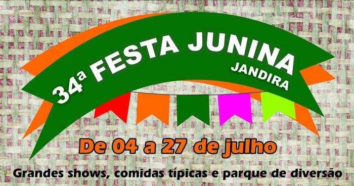 34ª Festa Junina de Jandira SP 2014 – Programação