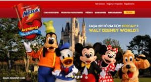 Promoção Nescau Aventuras Walt Disney World