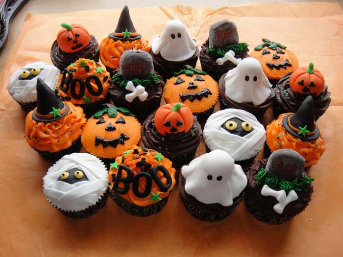 Cupcakes Divertidos Para Festa de Halloween 2014 –Ver Fotos e Receita