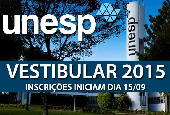 Vestibular UNESP 2015 – Fazer as Inscriçoes e Consultar Edital