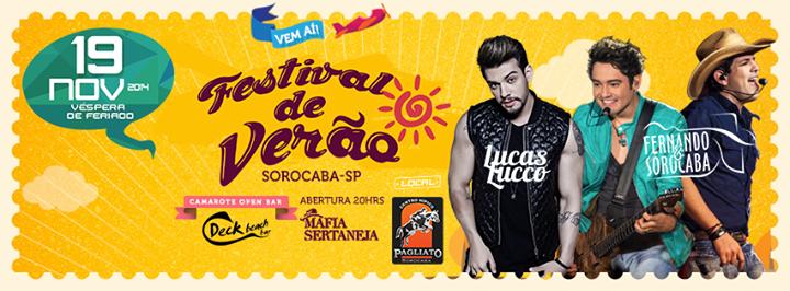 Festival de Verão em Sorocaba SP 2014 – Atrações e Comprar Ingressos