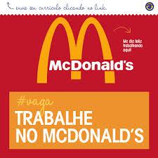 Menor Aprendiz McDonalds 2015 – Cadastrar Currículo Online