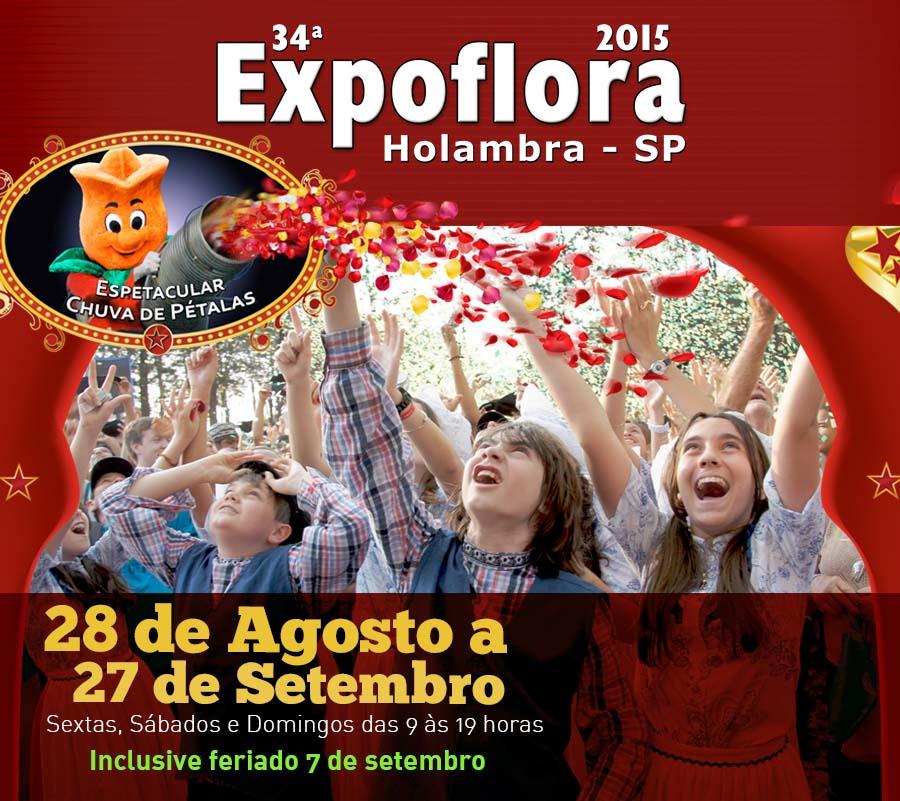 34ª Edição Expoflora em Holambra SP 2015 – Comprar Ingressos