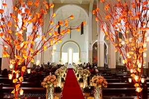 Decoração de Igrejas Cerimônias de Casamentos