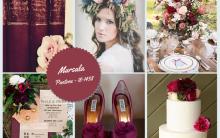Decoração de Casamento Com a Cor Marsala Tendências 2015 – Ver Fotos e Dicas
