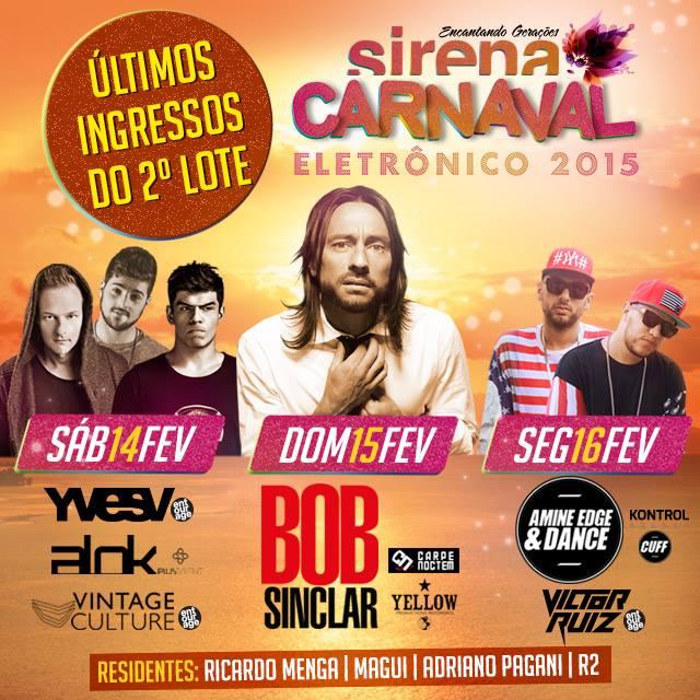Carnaval Sirena 2015 – Comprar Ingressos Pela Internet