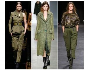 Tendência Verde Militar Moda Inverno 2015