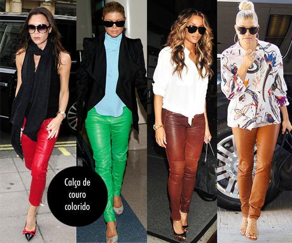 Calça de Couro Tendência Feminina para o Inverno de 2015 – Modelos