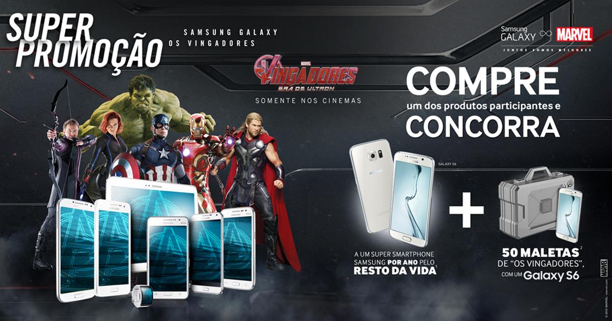 Promoção Samsung Galaxy os Vingadores 2015 – Como Participar