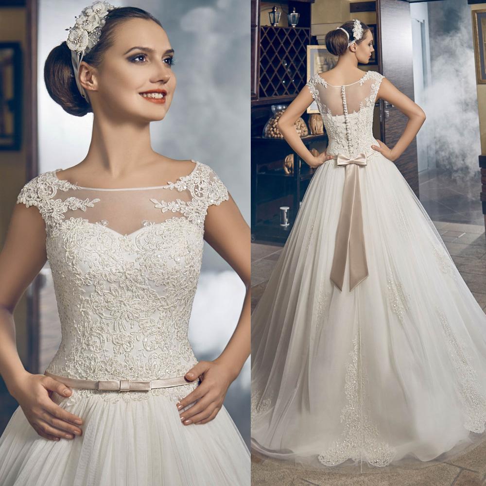 Cap-manga-Vestido-De-casamento-grego-Vestido-De-Noiva-Princesa-apliques-vestidos-De-Princesa-2016-De
