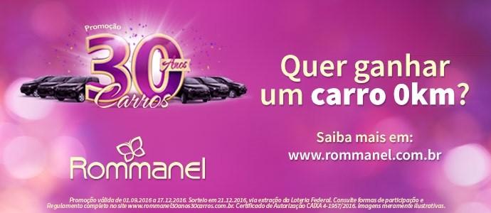 Promoção Rommoanel 30 anos, 30 Carros 2016