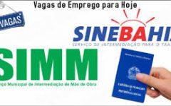 Vagas de Emprego no SIMM Bahia 2017 – Como se Cadastrar
